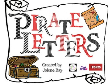 Pirate Font Capital Letters: Red and Black
