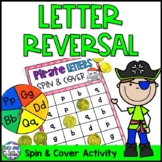 Pirate Letters Spin and Cover - Letter Reversal Activity {B D P Q G}