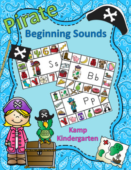 Pirate Literacy Activities Beginning Consonant Sounds  Distance Learning