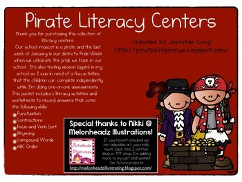 Pirate Literacy Centers
