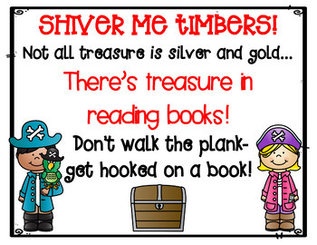 Pirate Literacy Night Scavenger Hunt