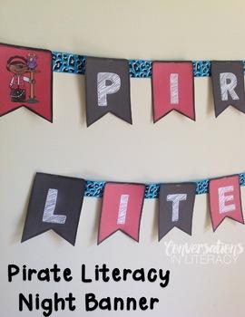 Literacy Night Scavenger Hunt Pirate Theme