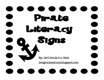 Pirate Literacy Signs