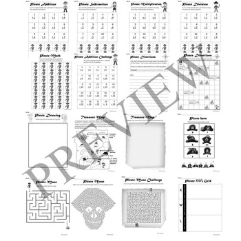 Pirate Activity Packet