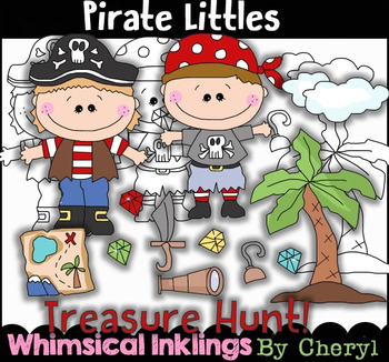 Pirate Littles Clipart Collection