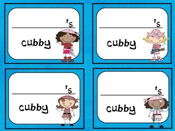 Pirate Locker/Cubby Labels