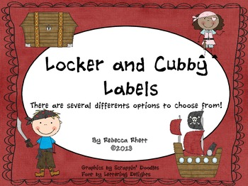 Pirate Locker/Cubby Labels