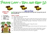 Pirate Loot Dice Game - Roll and Keep 20
