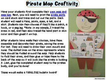 Craftivity: Pirate Map
