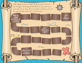 Pirate Map Treasure Hunt Math Game