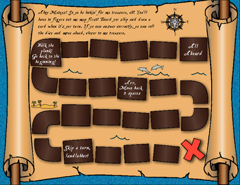 Pirate Map Treasure Hunt Math Game By Blossoms Of Blue Tpt