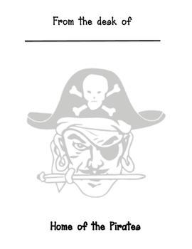 Pirate Mascot Memo sheet