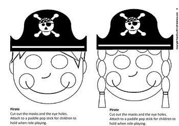 Pirate Masks for Talk Like a Pirate Day