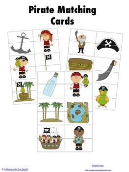Pirate Matching Cards
