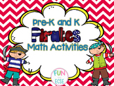 Pre-K and Kindergarten Pirate Math Activities