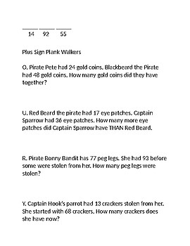 Pirate Math Activity 2