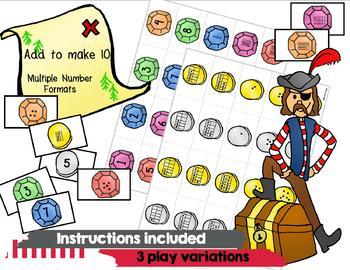 Pirate Math Card Game