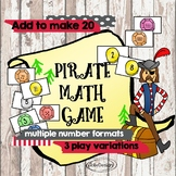 Pirate Math Card Game - Addition Practice 1-20