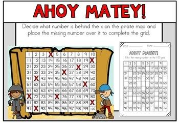 Pirate Math Centers First Grade
