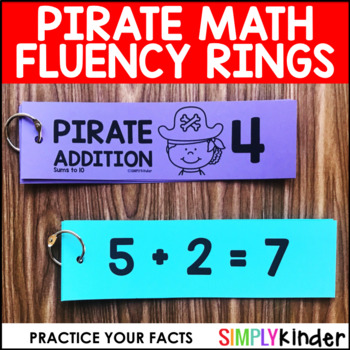 Pirate Math - Fluency Rings Sums to 10
