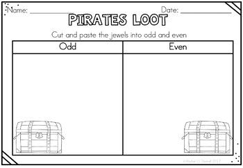 Pirate Math Freebie