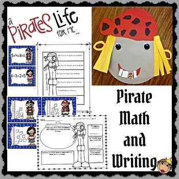 Pirate Math Games, Glyphs, and Writing Bundle
