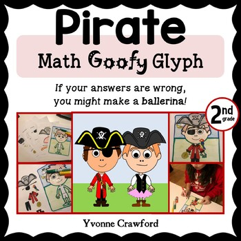 Pirate Math Goofy Glyph (2nd Grade Common Core)