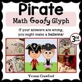 Pirate Math Goofy Glyph (3rd Grade Common Core)