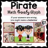 Pirate Math Goofy Glyph (6th Grade Common Core)