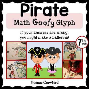 Pirate Math Goofy Glyph (7th Grade Common Core)