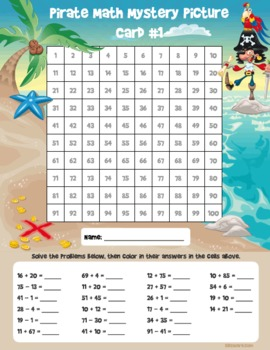 Pirate Math Mystery Pictures