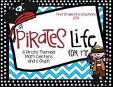 7 Pirate Themed Printable Math Centers & Pirate Glyph