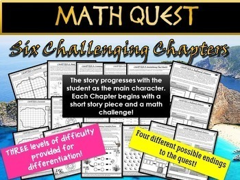 End of Year Math Review - Pirate Math Quest