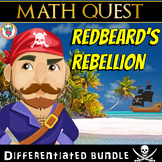 Math Game Activity in Worksheets  - Redbeard's Rebellion, Pirate Math Quest