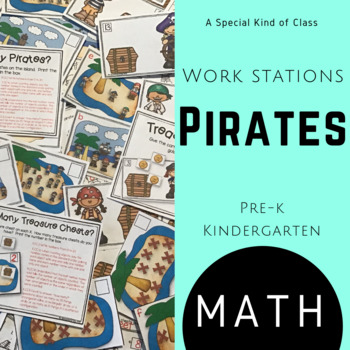 Kindergarten Pirate Math Work Stations - Aligned to Common Core