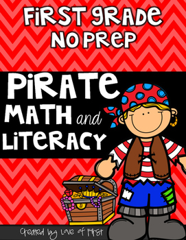 Pirate Math and Literacy No Prep