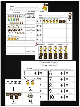 Pirate Math and Reading Activites Pack