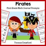 Pirates Math Journal Prompts (1st grade) - Common Core
