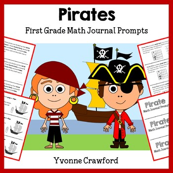 Pirates Math Journal Prompts (1st grade) - Common Core