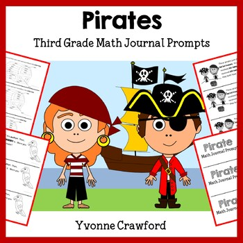 Pirates Math Journal Prompts (3rd grade) - Common Core
