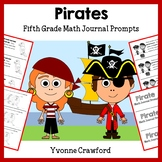 Pirates Math Journal Prompts (5th grade) - Common Core