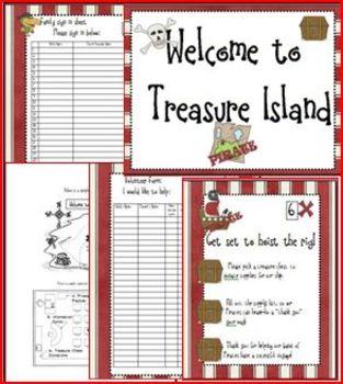Pirate Meet the Teacher Treasure Hunt Packet
