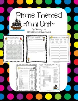 Pirate Mini Unit {Pirate Vocabulary Activities}