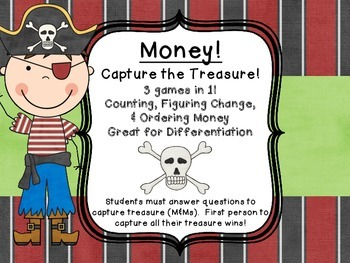 Money Common Core Center Games  Counting, Figuring Change and Ordering!