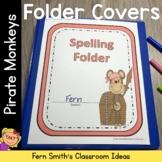 Student Binder Covers - Pirate Monkeys Student Work Folder Cover