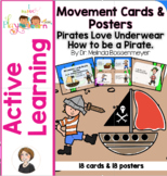 Pirate Movement Cards and Posters