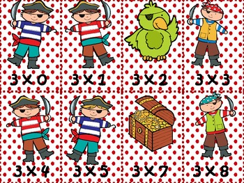 Pirate Multiplication Game