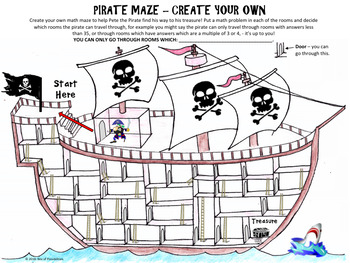 Pirate Multiplication Math Activity - Pirate Multiplication Maze.