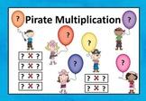 Pirate Multiplication Sort Cards