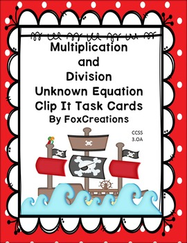 Pirate Multiplication and Division Unknown Factor Equation